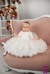 Сукня Аріні 2 хрестильна молочна