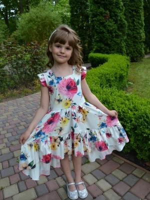 Сукня квіткова на білій основі