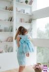 Блакитні сукні для мами і донечки
