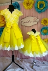 Жовті сукні для мами і донечки