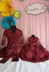 Бордові одинакові плаття