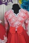 Червоні плаття для мами і донечки