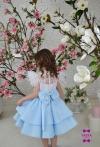 Сукня Фіорі з блакитною спідничкою