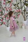 Сукня рожева в горошок