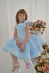 Сукня Горошинка блакитна