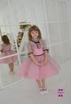 Сукня Горошинка рожева