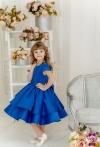Синя атласна сукня Фіорі