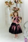 Сукня Олівія чорно-рожева