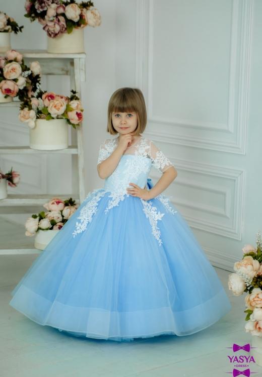 Сукня Асоль з мережевними аплікаціями