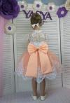 Сукня Еліза з персиковою спідничкою