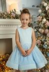 Сукня блакитна в горошок