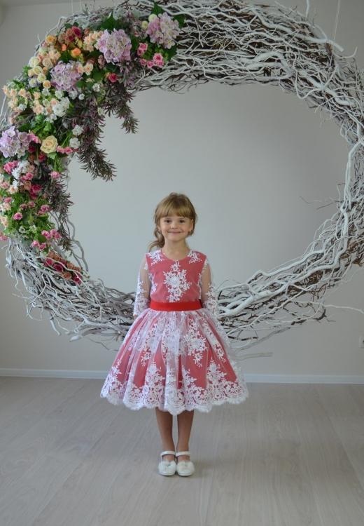 Сукня Олівія червоного кольору