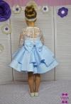 Сукня Фіорі в біло-блакитному кольорі