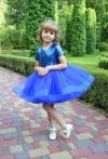 Сукня синя з паєтками