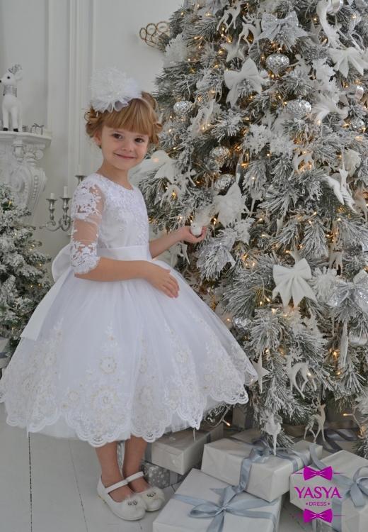 Сукня Сніжинки з мереживом