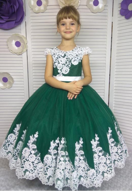 Сукня Аріні смарагдового кольру