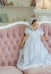 Хрестильна гіпюрова сукня