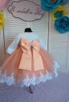 Сукня Ярослава з персиковою спідничкою на рочок