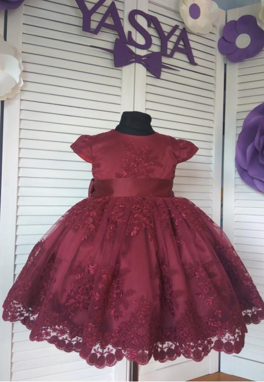 Сукня Поліна бордового кольору
