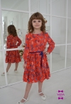 Сукня Беккі червоного кольору