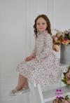 Сукня Беккі біленька з квітами