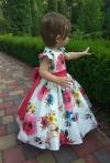 Сукня катонова в квіти